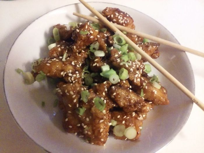 Homemade Foodporn Foodphotography Orange Chicken And Chopsticks Ethnic Food Chinese Food Delicious Home Cooking