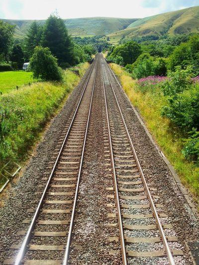 Into the mountain. Railway Landscape Taking Photos Nature