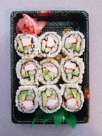 My dinner tonight Food Directly Above Freshness Vegetable Ready-to-eat Meal No People Indoors  Food And Drink Healthy Eating Sushi Sushi Time