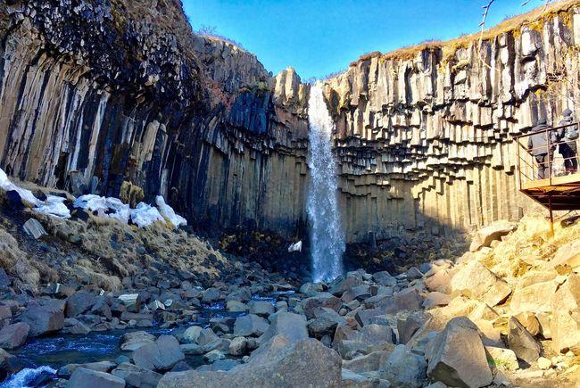 Svartifoss, Iceland Trekking Nature Iceland Svartifoss Waterfall Rock - Object Rock Formation Nature Day Mountain No People Outdoors