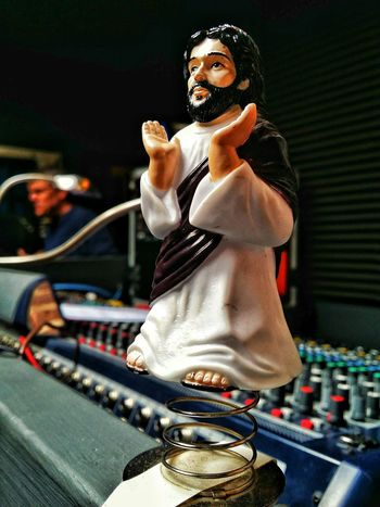 Look Its Bobble Jesus on The Soundboard Hanging Out With Jesus JesusIsMyHomeBoy EyeEm Best Shots Eye4photography