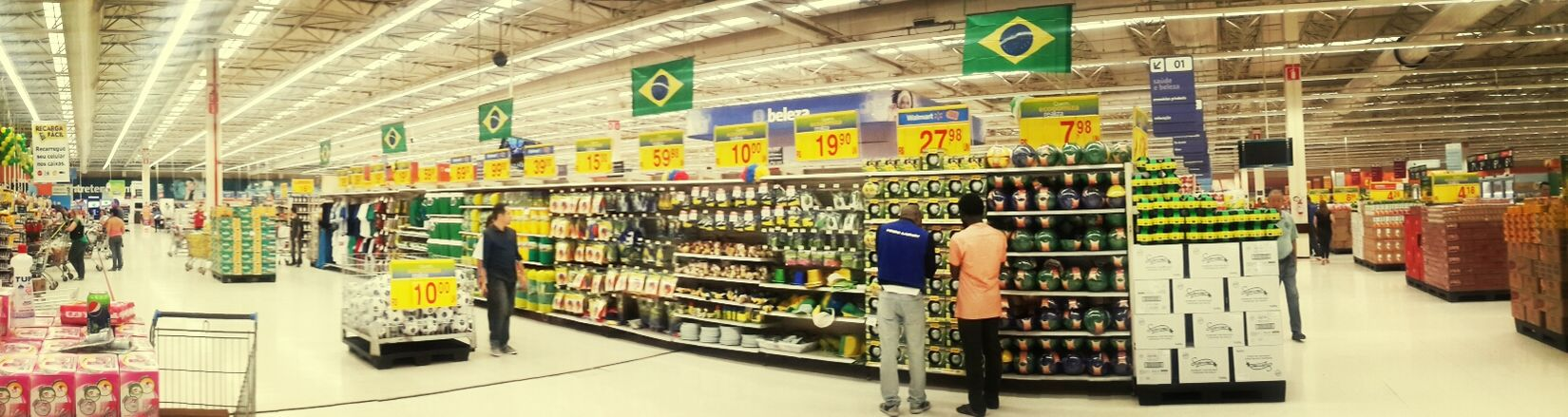 Walmart repping the colors of Brasil. We Are Onefootball Brazil 2014 World Cup Worldcup2014 Copadomundo
