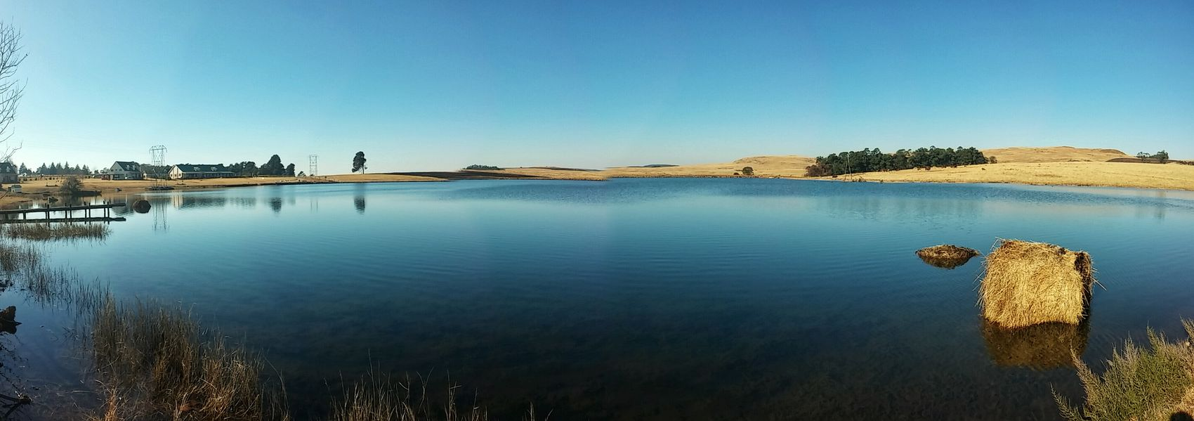 A view over the dam Water Panorama Drakensberg South Africa