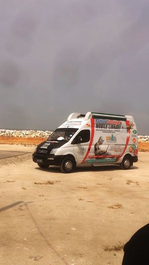 Mobile library on duty for people