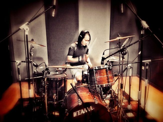 Drumming Recording Session Feel The Groove Rock'n'Roll Lets Roll