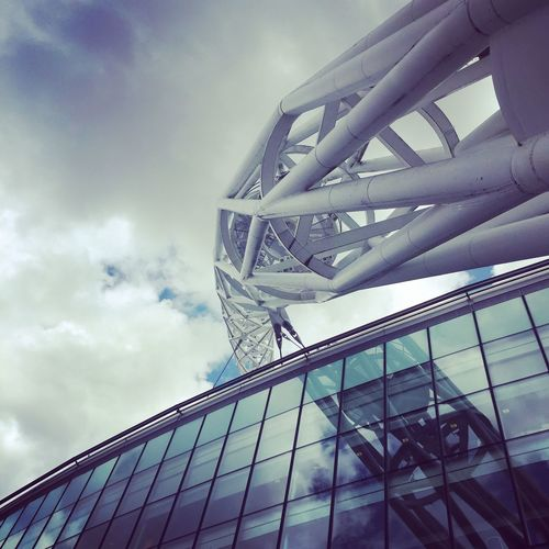 Wembley Stadium Wembley Tranmere Tranmere Rovers Sky Architecture Low Angle View Built Structure Cloud - Sky Day Building Exterior Outdoors Modern Skyscraper No People City
