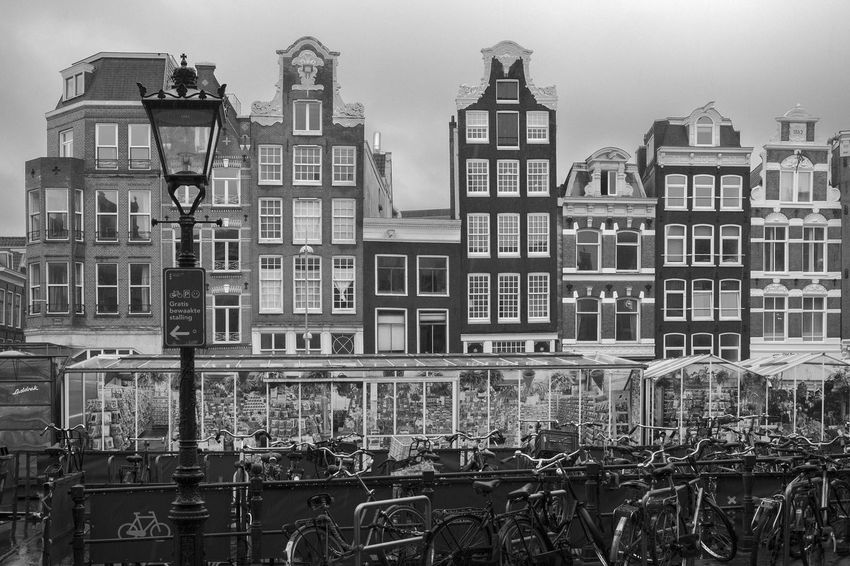 Amsterdam Archineos Architecture B&n B&w Bianco E Nero Black And White Blanco Y Negro Bloemenmarkt Building Exterior City Cityscape Flower Market Holland Mercato Dei Fiori Monochrome Netherlands No People Outdoors Ugo Villani Urban Landscape