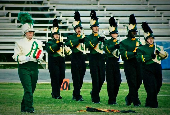 Competition marching band of 2014-2015 (I'm in the front of the line)