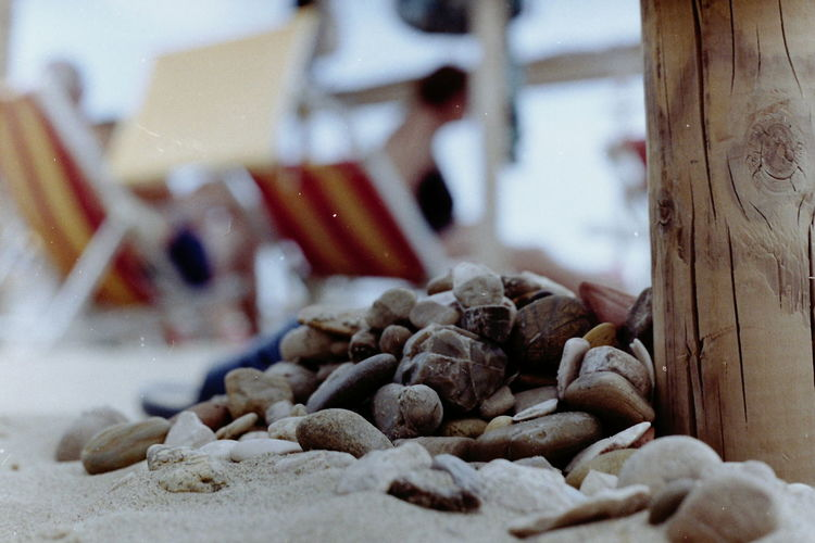 Beach Close-up Seaside Film Is Not Dead Film Photography Stones Selective Focus Fujifilm Superia Pentacon No People Simplicity No Edits No Filters Sea Analog Photography Outdoors Stone Simple Things Sand Sand And Stone