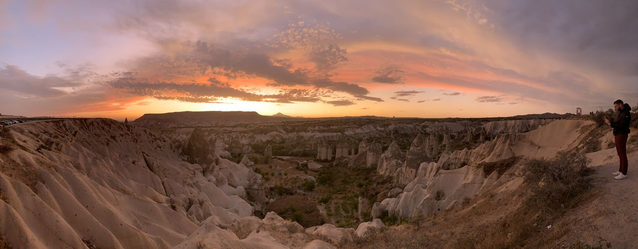 Panoramic view of landscape during sunset