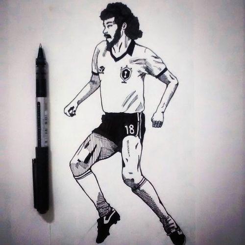 Sócrates Futbol Brasil Dibujo Blancoynegro Corinthians Draw Art Illustration Black White Magrão DemocraciaCorinthiana Sketch