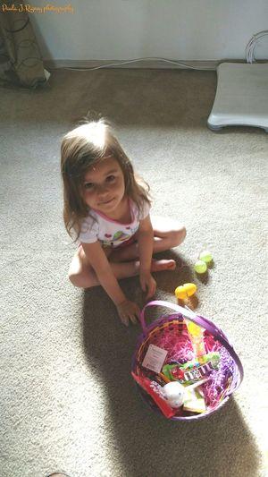 My granddaughter Bridgette i took her , her Easter basket