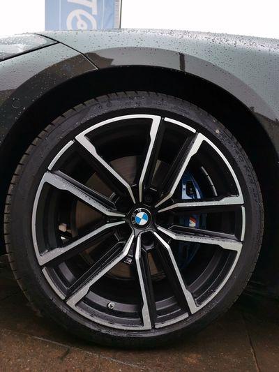 Close-up of car wheel