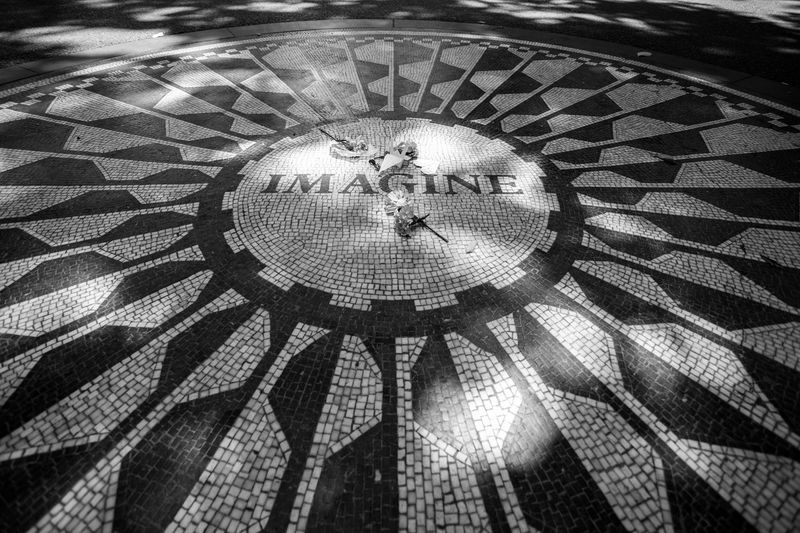 Lennon New York Close-up Day Human Representation Imagine Indoors  No People Pattern Strawberry Fields