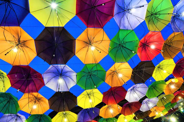 Street Market Celebration Close-up Colorful Festival Illuminated Low Angle View Multi Colored Outdoors Street Night Street Umbrellas Umbrellas Variation HUAWEI Photo Award: After Dark