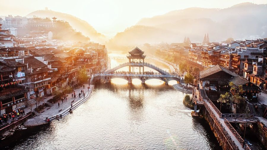 The old town 沱江 The Old Town Of Phoenix Sunny☀ Bridge - Man Made Structure Landscape