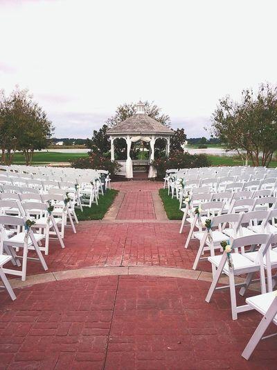 Wedding Ceremony Setup Chairs Celebration Gazebo EyeEmNewHere Wedding Photography Trees Golfcountry