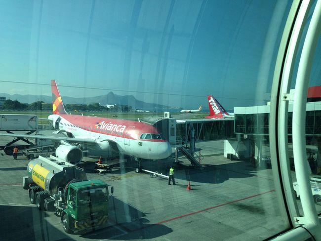 Avianca Aeroporto Santos Dumont Rio De Janeiro EyeEm Rio Avião Aviation Airplane Transportation Brasil Brazil