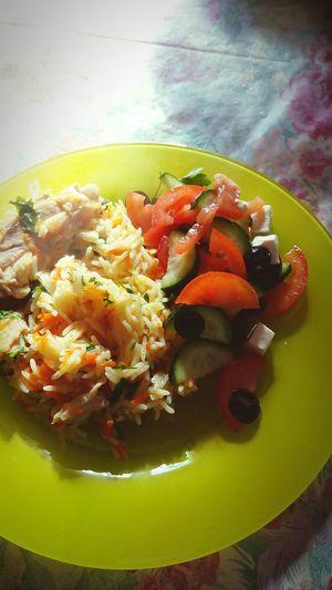 обед салат салатик плов вкусно рис Food