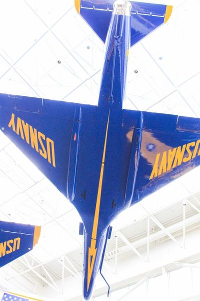 Blue angel plane Blue Angels Military Jet Plane Museum Transportation Airplane Indoors  Airport Blue No People Airport Departure Area Air Vehicle Day Close-up