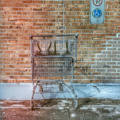 Hdr Shopping Cart Brick Wall No People Abandoned Day Built Structure Architecture Outdoors Supermarket Exploring