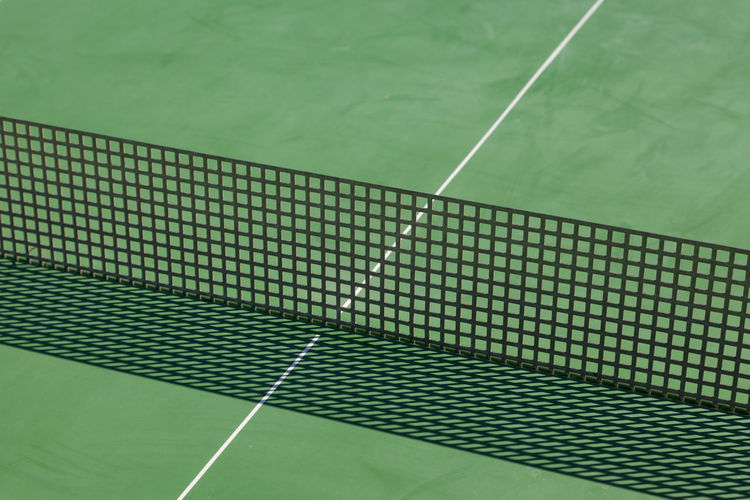 High Angle View Of Net On Playing Field