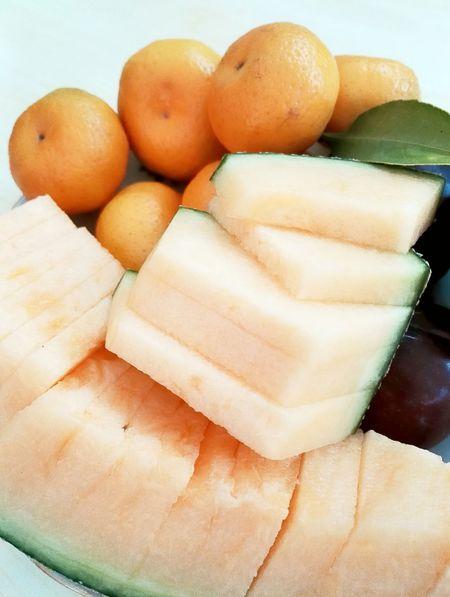fresh fruit Fruit Orange Hamimelon Food♡ Dinner! Snacks!