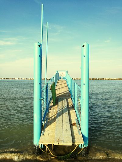 Water Outdoors Sea Day Sky Cloud - Sky No People Built Structure Pier Blue Bellariaigemarina Summer Is Finished