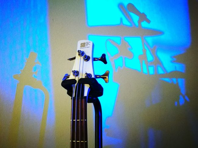 Music Shadow Microphone Technology Performing Arts Event Indoors  Bass Guitar Passion Blue Vibration Emotions TakeoverMusic