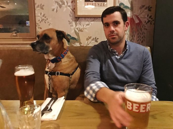 Pub life Pub Pubdog Mansbestfriend Publife EyeEm Selects Domestic Pets One Animal Domestic Animals Mammal Dog Food And Drink