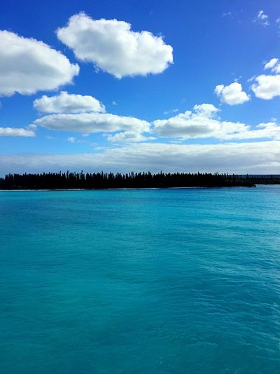 Isle De Pines Sky Water Cloud - Sky Blue Scenics - Nature Beauty In Nature Waterfront Turquoise Colored Tranquil Scene Outdoors Sea Idyllic Nature Architecture Tranquility