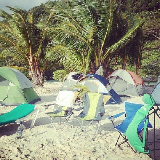 Beach Camping Camping (;