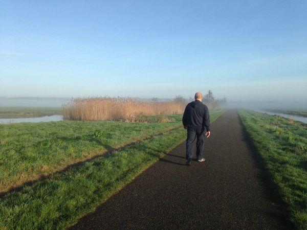 Morning Walking Around Walking Morning Walk Foggy Morning EyeEm Nature Lover Reeds Green Grass Road People