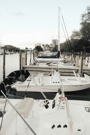 Nautical Vessel Sail Boat Water Ocean Nautical Vessel Moored No People Transportation Day Harbor Outdoors Sky