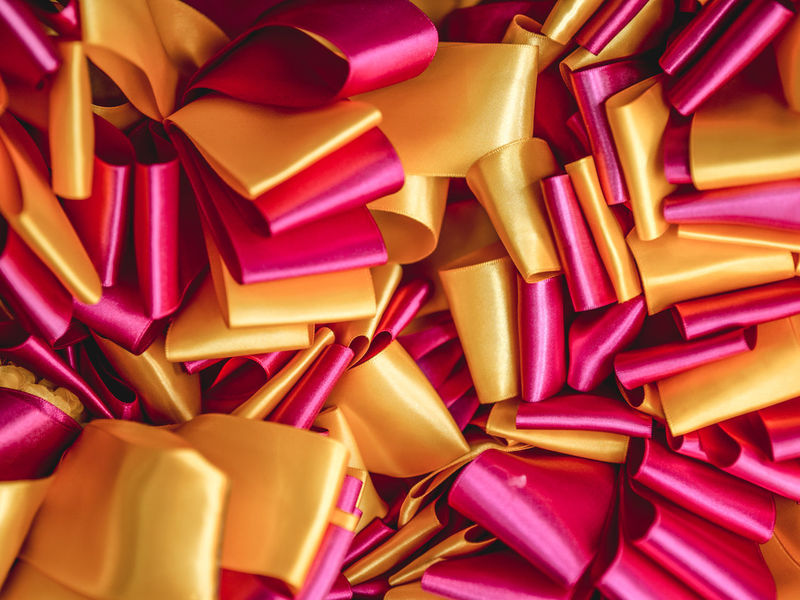 Colors Paint The Town Yellow Ribbon Backgrounds Close-up Day Full Frame Indoors  Magenta No People Yellow