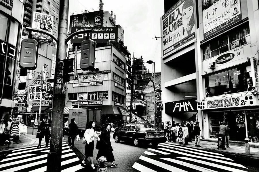 Blackandwhite Classic Walkingstreet Osaka,Japan AmericanMuraTown All Seeing Eye Takephoto Bymyself