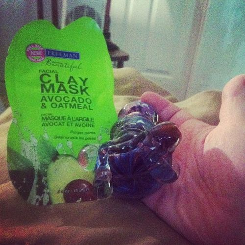 relaxation at it's finest Facemaskandbowl Relax Fun IDGAF piece girlswithpieces facemask buds iphone igdaily photooftheday