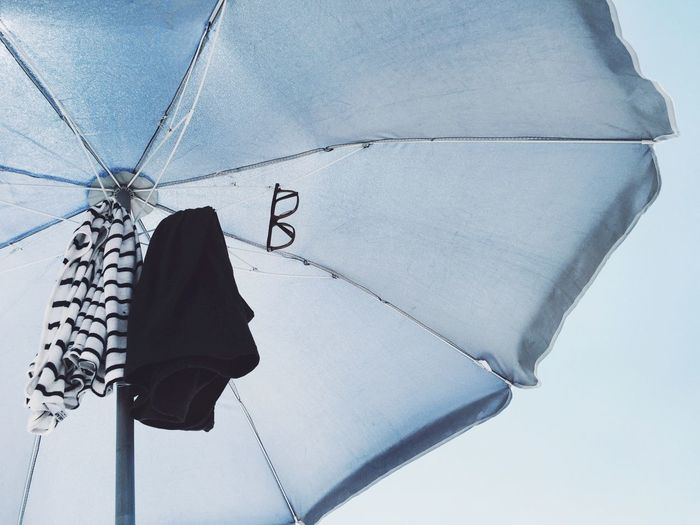 Close-up of beach umbrella