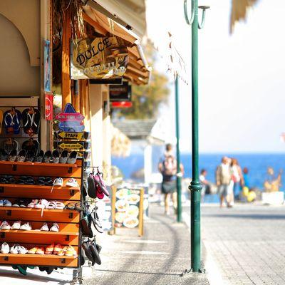 EyeEm Selects Travel Destinations Street Outdoors Travel Day Store City No People Sky Greece Island Sea Greek Islands Greece Santorini Island Greece2017