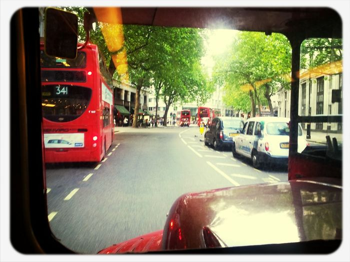 On a old style Routemaster. Happy days. Beingatourist