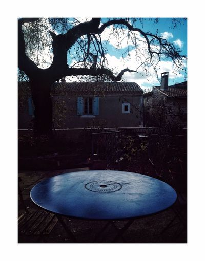 Blue lagon Circle Built Structure No People Tree Bare Tree Architecture Day Outdoors Close-up