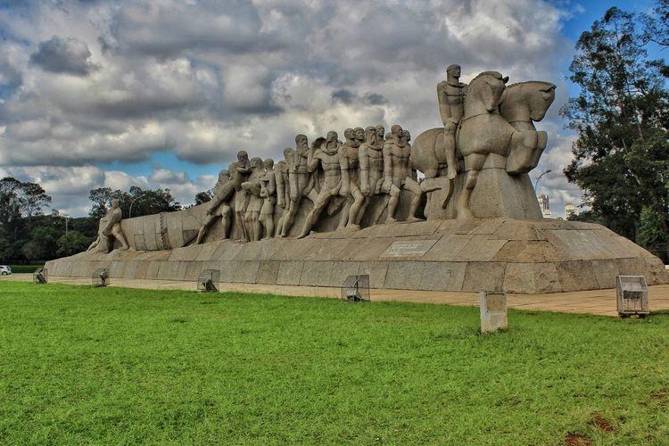 Monumento aos Bandeirantes- S. Paulo Brasil Partener Selection Bandeirantes Sculpture Statue Ancient Civilization History Sky Grass Cloud - Sky Landscape