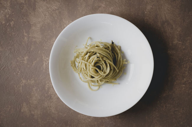 Spaghetti with Pesto Beverage Close-up Diet Dinner Directly Above Food Food And Drink Food Photography Food Porn Foodphotography Foodporn Freshness Full Frame Indulgence Lunch Meal Pesto Pesto Alla Genovese Pesto Pasta Plate Ready-to-eat Sauce Spaghetti Table Tasty