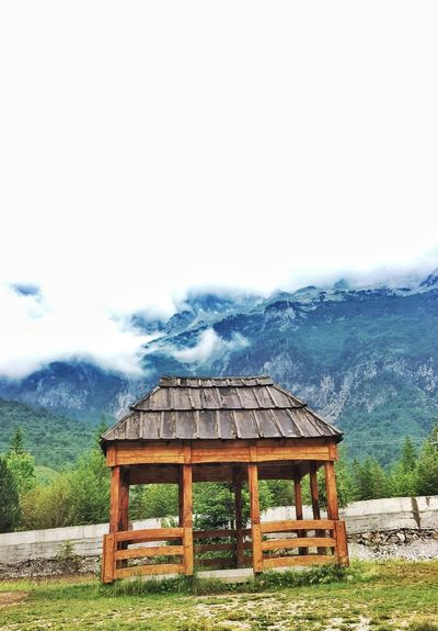 Architecture Built Structure Wood - Material Roof No People Outdoors Day Nature Tree Rural Scene Sky Building Exterior Mountain Shkoder Theth Vscoalbania Albania Travel Destinations Tranquility Tree Beauty In Nature VSCO Nature