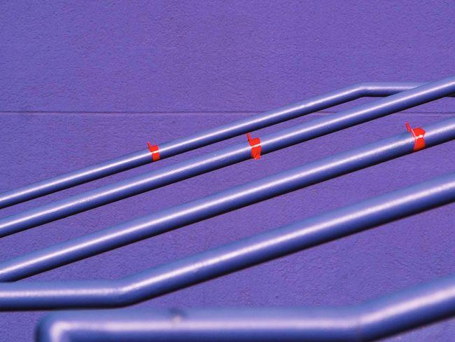 Purple Rail. Purple Dallas Deepellum Texas Wall Red