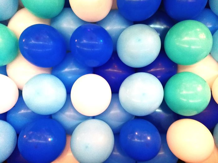 Balloons Blue Round Shape