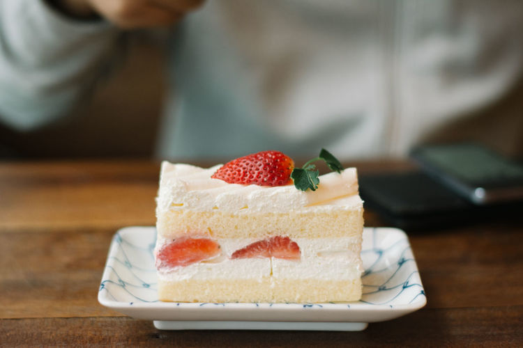 #café #cake #dessert #eat #strawberry Close-up Food And Drink Sweet
