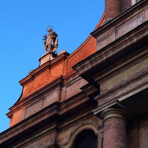 Look Up And Thrive Italian Monuments Statue Blue Sky Reggio Emilia - Italy Chiesa di S.Prospero