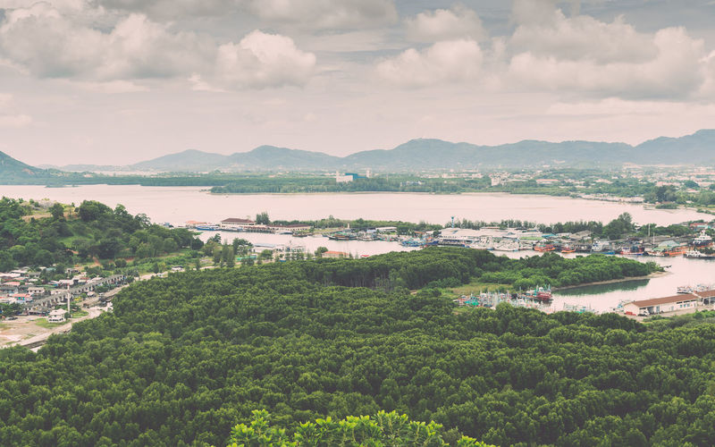 Environment and scenery of phuket view from koh sirey tepmle, thailand.