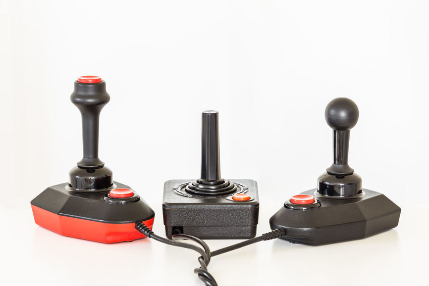 Team up - vintage joysticks Black Color City Close-up Controllers Day Gaming Joshua Tree National Park Joystick No People Red Studio Shot Teamup Teamwork Textured  White Background